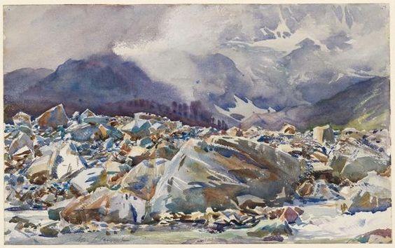 John Singer Sargent, Simplon Pass: Avalanche Track, 1911.: