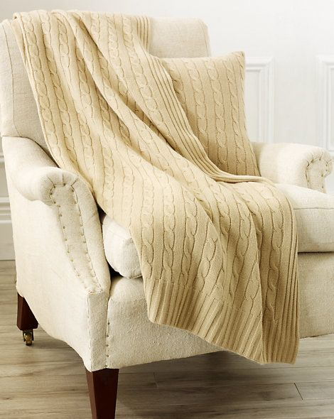 Ralph Lauren Home - Cabled Cashmere Throw Blanket