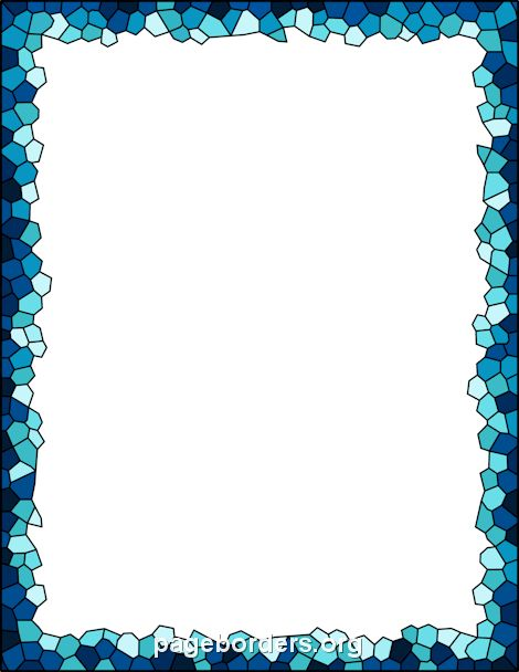 Printable Mosaic Border. Use The Border In Microsoft Word Or Other