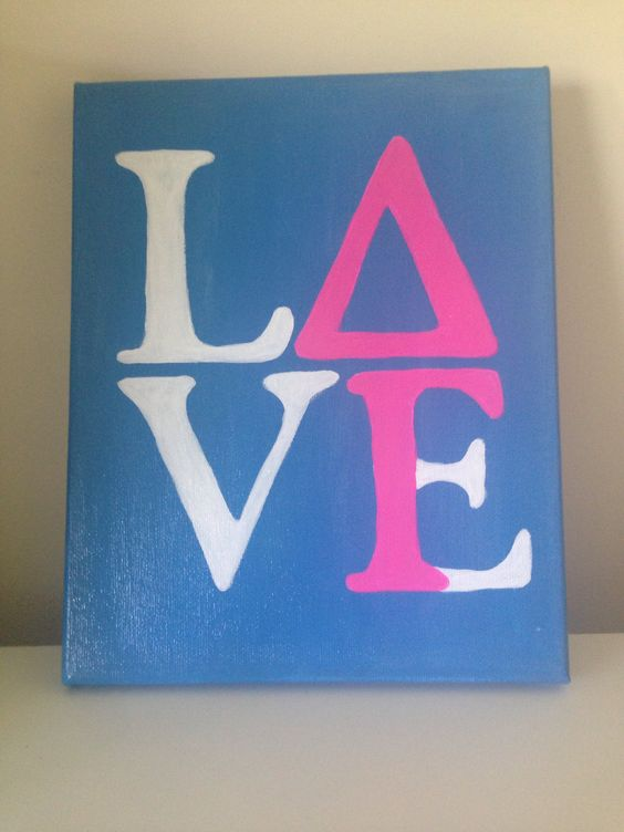 delta gamma love canvas painting