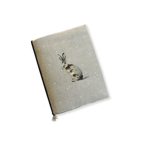 Hobonichi Cover A6 hare print. A6 Notebook cover. Reusable ...