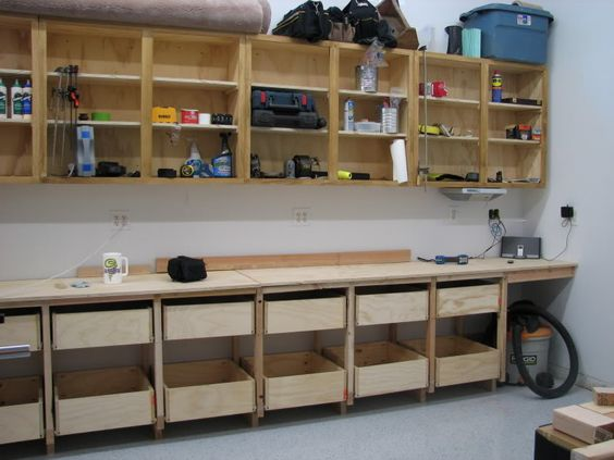 Storage cabinets kreg tools and garage on pinterest for Build kitchen cabinets with kreg