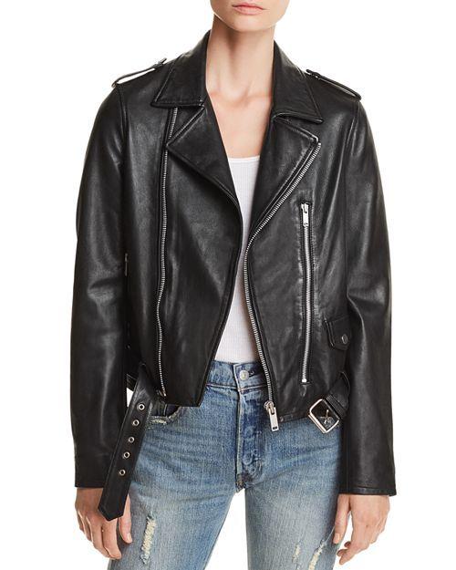 Aqua Belted Leather Moto Jacket 100 Exclusive Aqua Bloomingdale S Jackets Leather Moto Jacket Moto Jacket