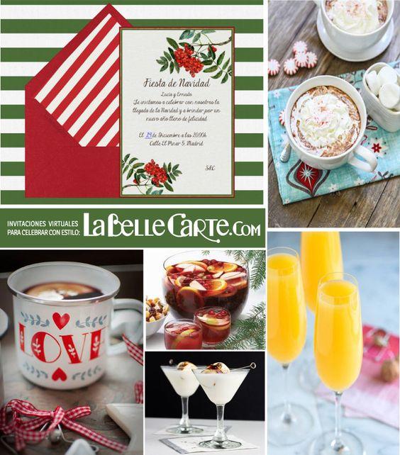 tarjetas de navidad recetas bebidas de navidad ideas para navidad cena de navidad