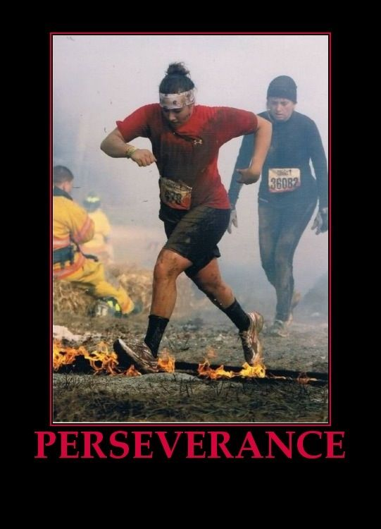 This is my motivation everyday. Here is me in Tough Mudder and getting through this makes me want more challenges. Lets Move!