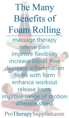 Dr. Oz's solution to chronic pain. Foam Rolling. Great for pain relief, exercising and especially self-myofacial (self massage).