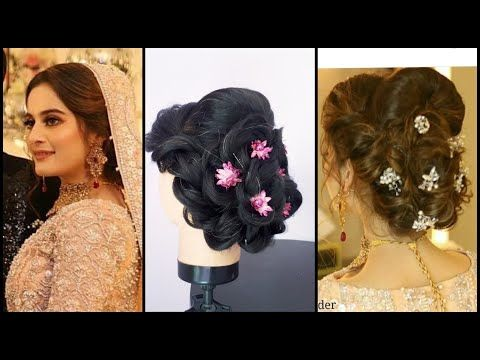 Bridal Hairstyle Tutorial Pakistani Bridal Hairstyle Video Step By Step 2018 Wedding Hairstyle Hair Styles Bridal Hair Inspiration Wedding Hair Inspiration