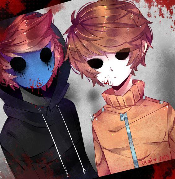 E.J and Masky; Anime Version!!! | CreepyPasta | Pinterest ...