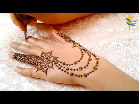 Beautiful Trendy Simple Easy Henna Mehndi Design For Hands For Eid Weddings Youtube
