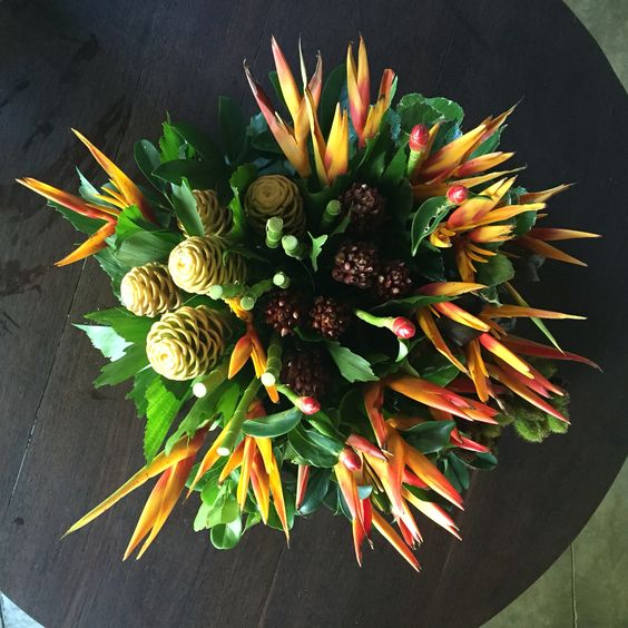 Arranjo com flores tropicais! Maceió, Al -Brasil