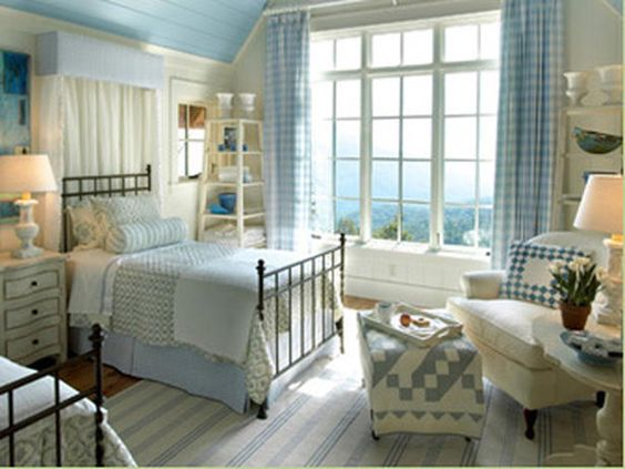 soothing country blue bedroom