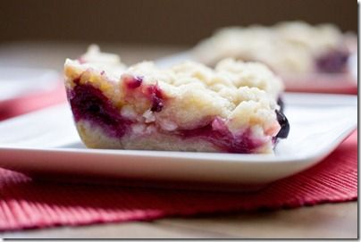 Blueberry rhubarb shortbread bars. I have lots of rhubard in my garden right now!