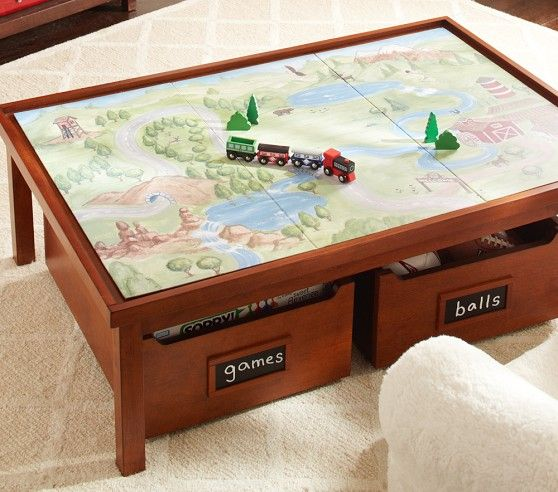 Decorator single shelf pottery barn kids activities and trains Train table coffee table