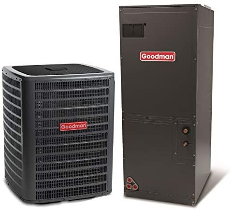 Goodman 1 5 Ton 14 Seer Air Conditioning System With Multi Position Air Handler In 2020 Central Air Conditioners Heat Pump System Heat Pump Air Conditioner