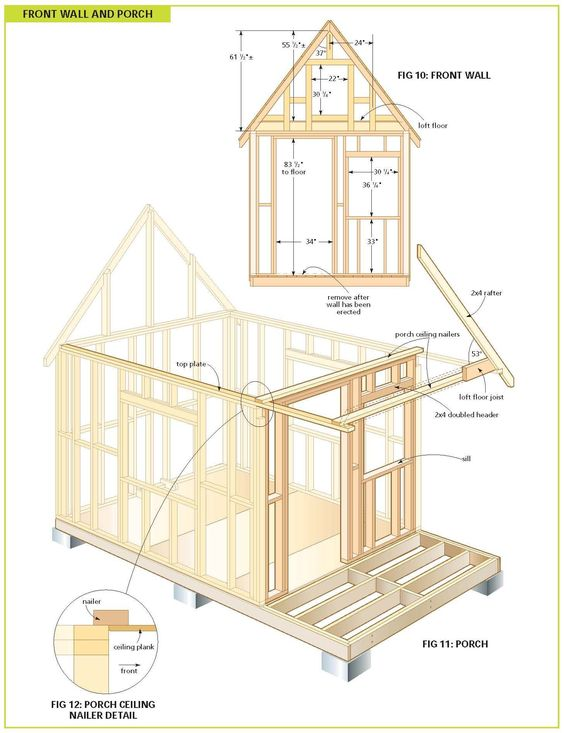 Free Wood Cabin Plans Free Step By Step Shed Plans Cabin Plans Shed Plans Play Houses
