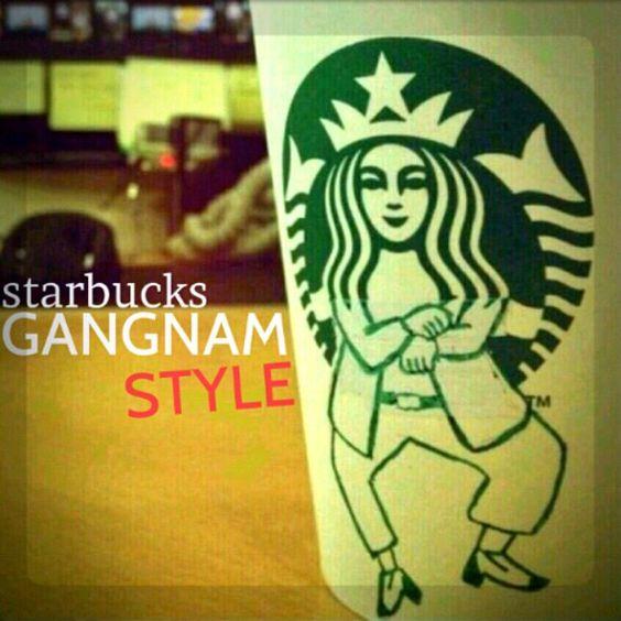 Photo by regischen - Eh, Sexy Latte! #starbucks #gangnamstyle