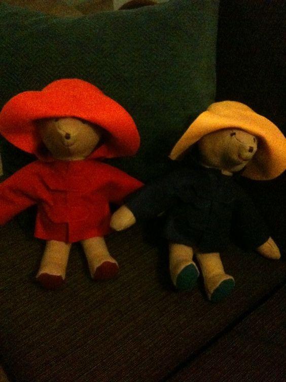 Paddington Bears made for the Bonney-Symns boys out of leftover cashmere. Vintage pattern