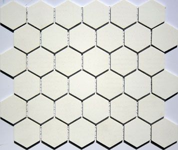 2 Inch Lyric Unglazed Porcelain Hexagon Tile In Ivoryivory