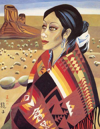 (Korea) Navajo Woman 1988 by Chun Kyung-ja (1924-2015).