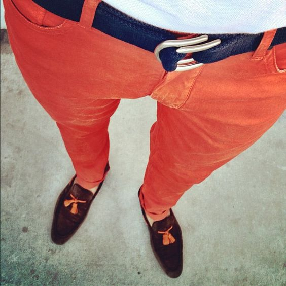 Everyone needs to have one pair of orange pants