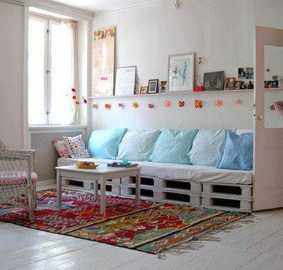 sof? de pallet Sala Pinterest Pallets, Sofas and Pallet sofa
