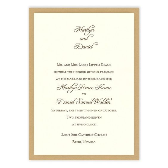 Abbey 2-Layer Wedding Invitations by MyGatsby.com