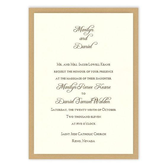 Abbey 2-Layer Wedding Invitations by MyGatsby.com:
