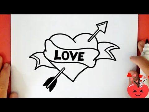 رسم قلب حب مجروح للمبتدئين رسم سهل تعليم الرسم للمبتدئين رسومات سهله بالرصاص Youtube In 2021 Butterfly Drawing Cool Drawings Cute Drawings