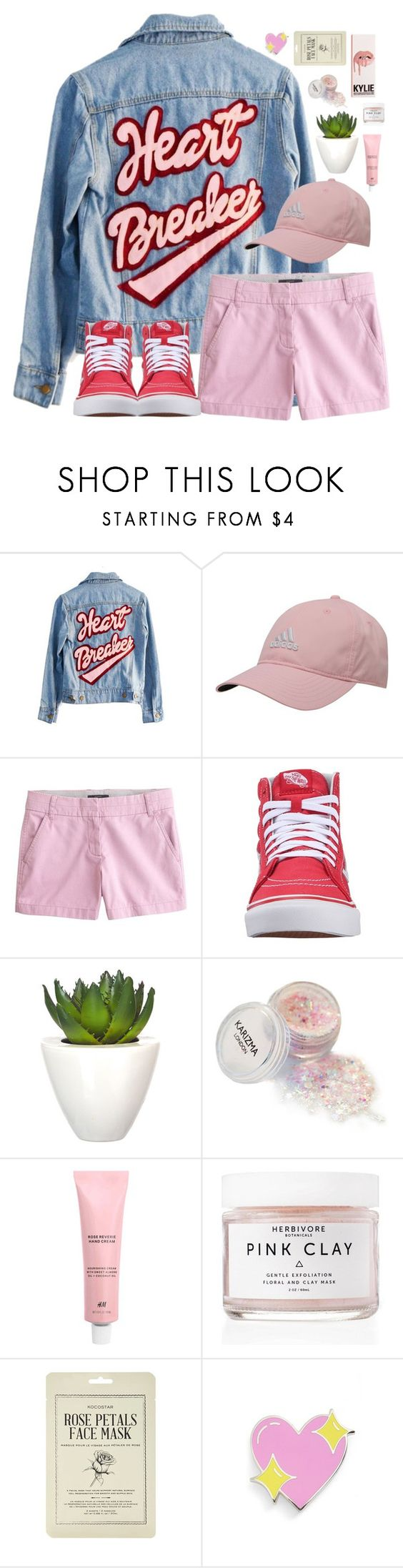 """""""That's me"""" by preppysoutherners ❤ liked on Polyvore featuring High Heels Suicide, adidas, J.Crew, Vans, Pomax, Herbivore, Forever 21 and Big Bud Press"""