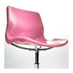 SNILLE Silla giratoria - rosa - IKEA
