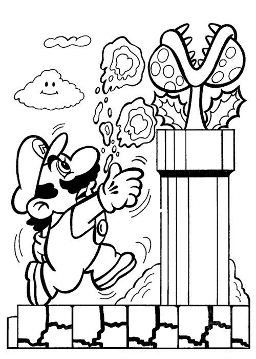 Kleurplaat Mario Odyssey / Free Printable Mario Coloring