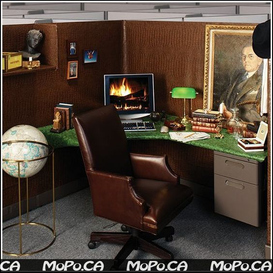 Cubicle inspiration office cubicle designs coolest for Creative cubicle decoration