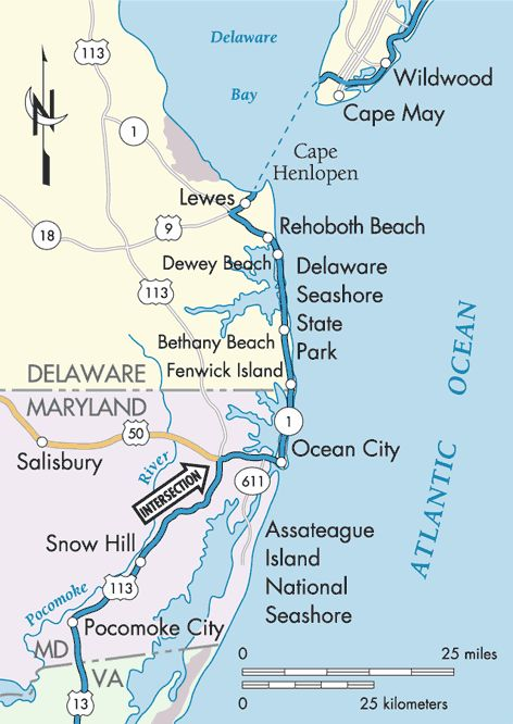 USACE Ocean City Maryland Map South Of Delaware Beaches Of - Delaware cities map