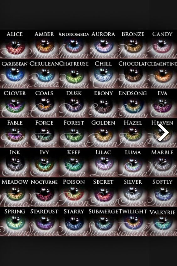 Eye colour descriptions or potential character names