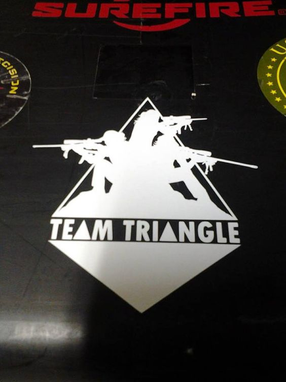 Triangle Sticker by TeamTriangle on Etsy, $4.50  Wow that is cool ...