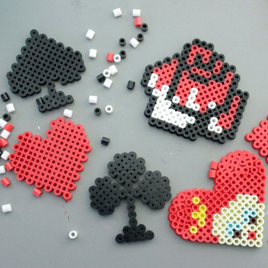 Red queen perler beads and magnets on pinterest for Bead craft ideas for kids