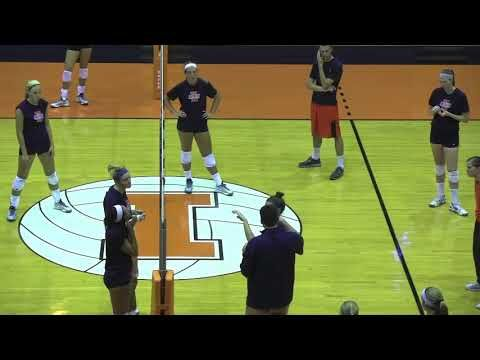Illinois Volleyball Blocking Concepts And Drills Youtube Volleyball Drills Volleyball Drill