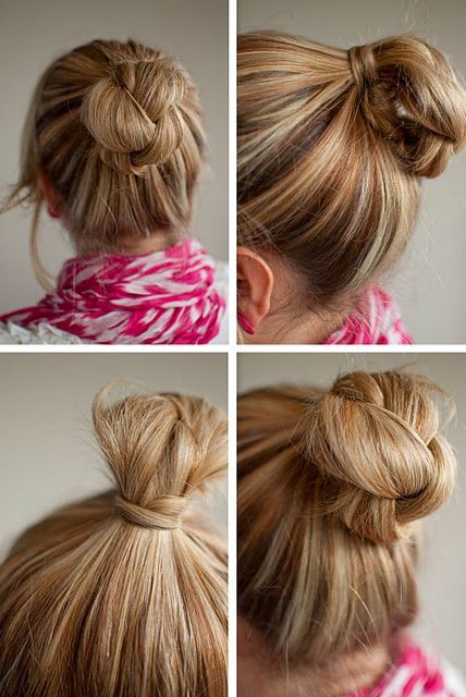 Plaited bun #hair