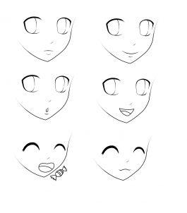 how to draw manga ears step by step