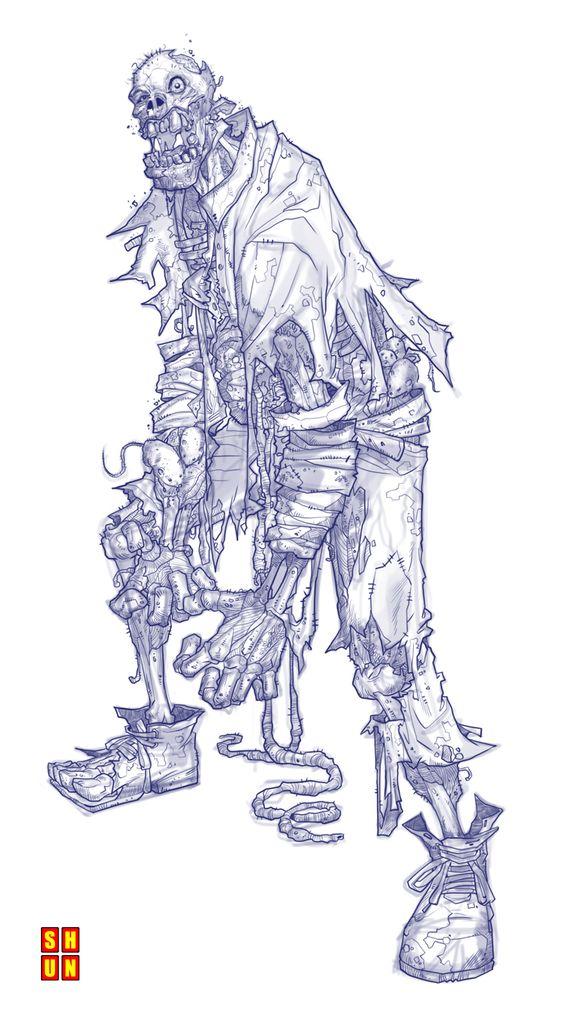 Zombie 001 by Shun-008.deviantart.com https://www.facebook.com/CharacterDesignReferences