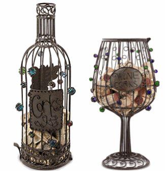 #Vinho & #Acessórios ☆ Porta Rolhas de Metal, #Arte de Metal Garrafa e Taça ☆