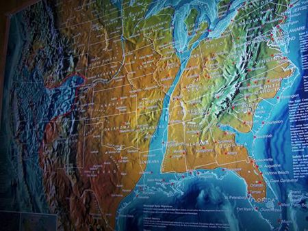 Edgar Cayce A map of his predictions for the east coast after a