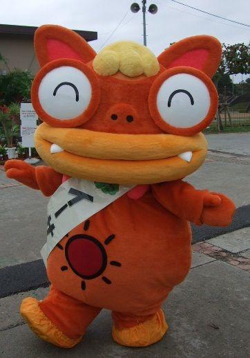 """自分の大好きなゆるキャラ""""イーサーくん""""です。沖縄県農林水産物マスコットキャラクターです。(^_-)-☆"""