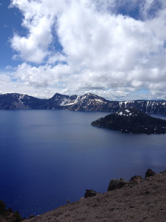 Wizard Island at Crater Lake, OR