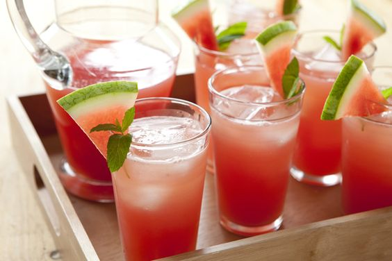watermelon lemonade, perfect for a hot summer's day