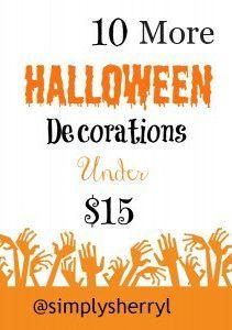 10 More Halloween Decorations Under $15.00