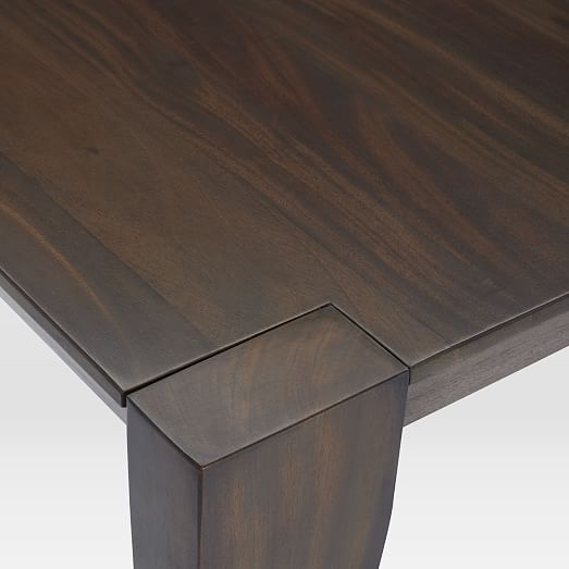 Anderson Solid Wood Expandable Dining Table Carob Expandable