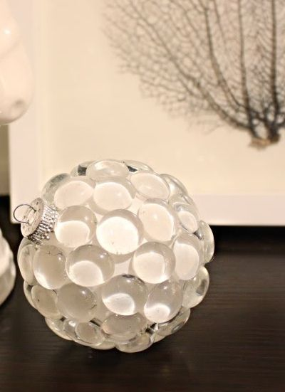 boule noel galets de verre id es d co diy pinterest d co et no l. Black Bedroom Furniture Sets. Home Design Ideas