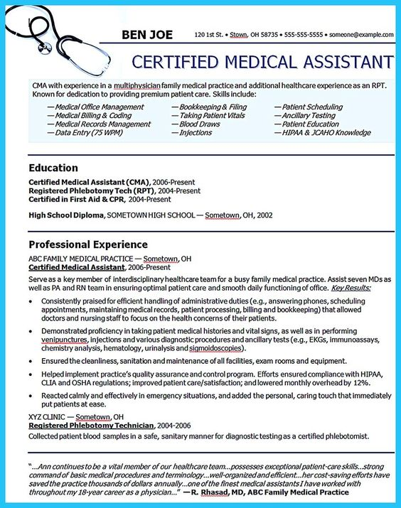 awesome Writing Your Assistant Resume Carefully, Check more at - medical assistant resume template