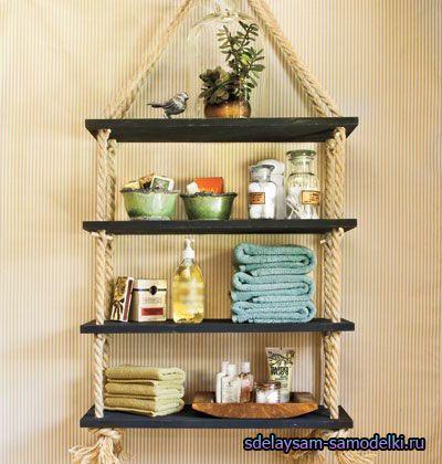 Fazendo um rack para casa com sobras de madeira e corda: